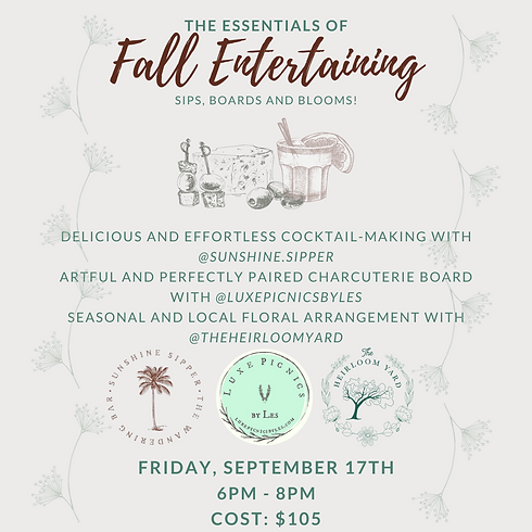 The Essentials of Fall Entertaining