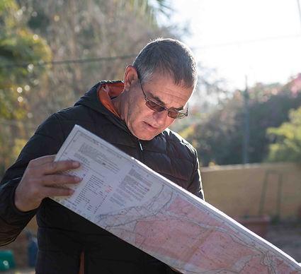 מתכנן מסלול במפה