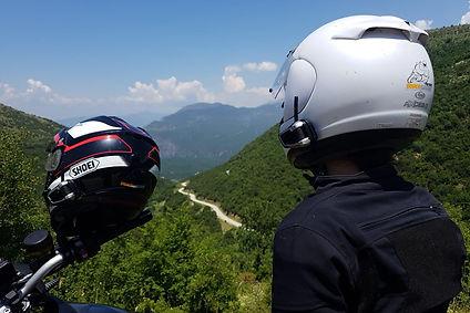 helmets, greece, view