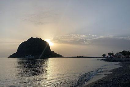 פולופונס, חוף ים, שקיעה