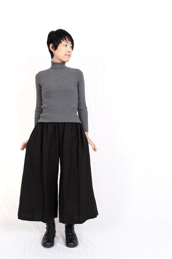 Linen wide culotte