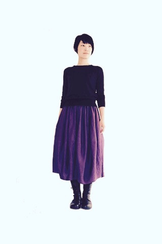 Linen barrel skirt