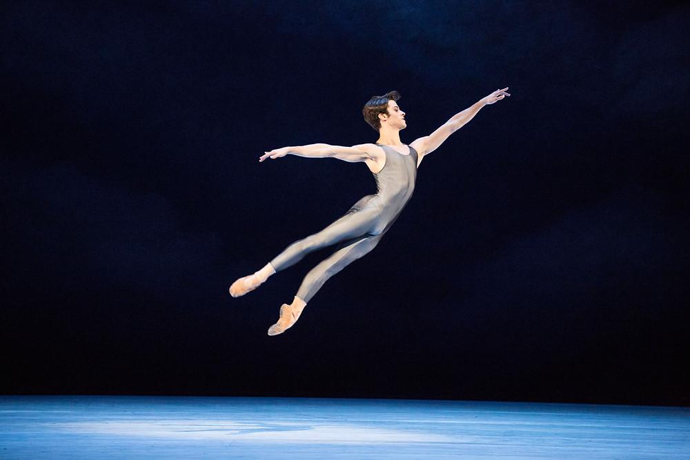 Dancer Claudio Coviello performing a dance move