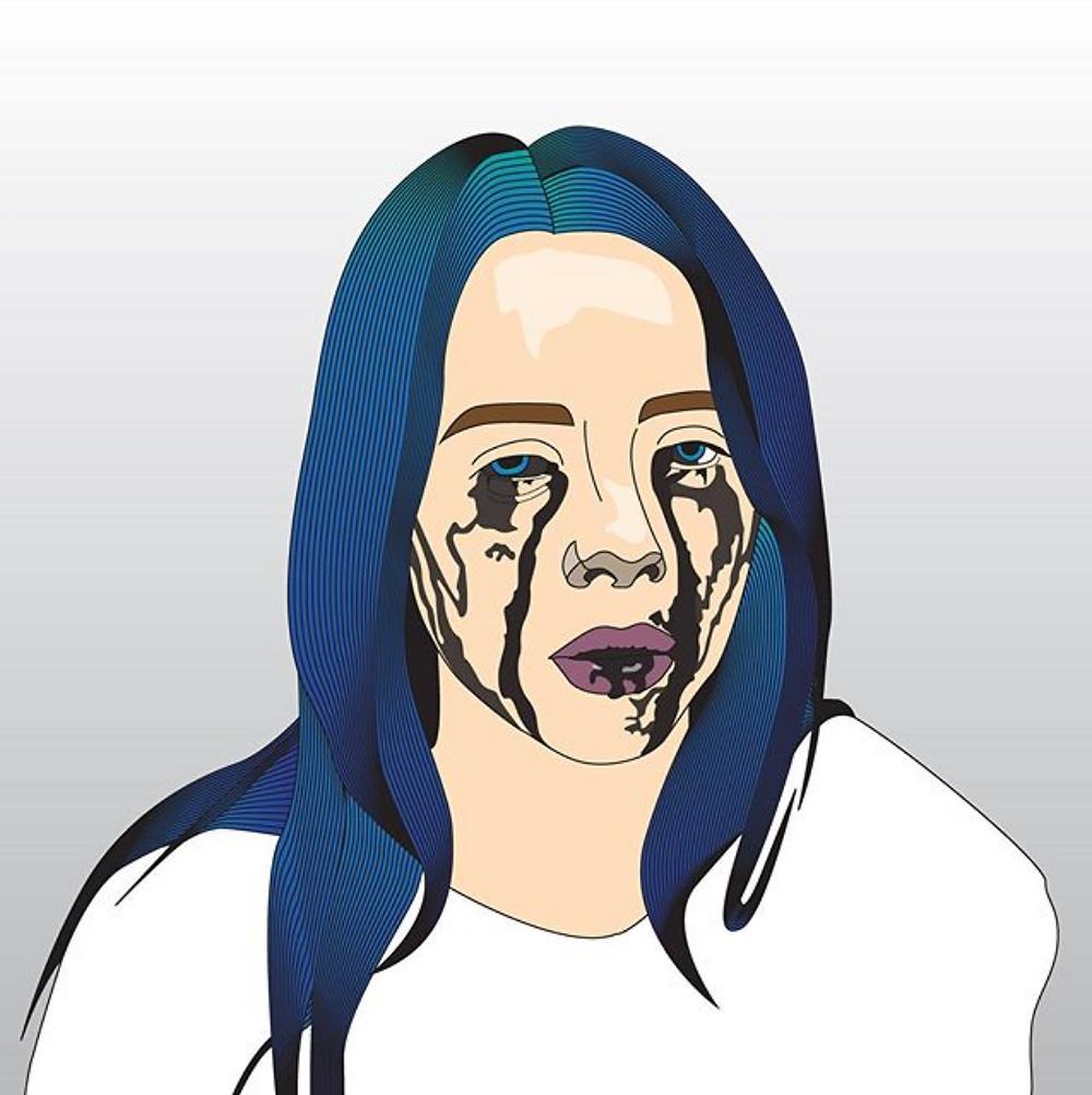 Emergent artist Federica Rossi's Billie Eilish illustration