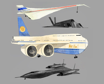 Art director and graphic designer Nicholas olivieri's concept art for a plane