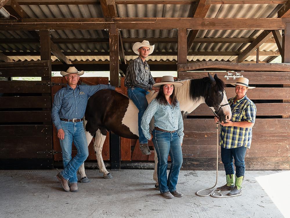 Photographers Pietro Baroni and Davide Bernardi's shot of a family in their ranch on their trip along via Aemilia