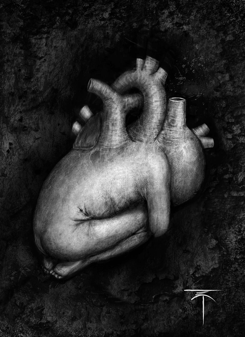 "Graphic artist Daniel Suarez's artwork ""BabeHeart"""
