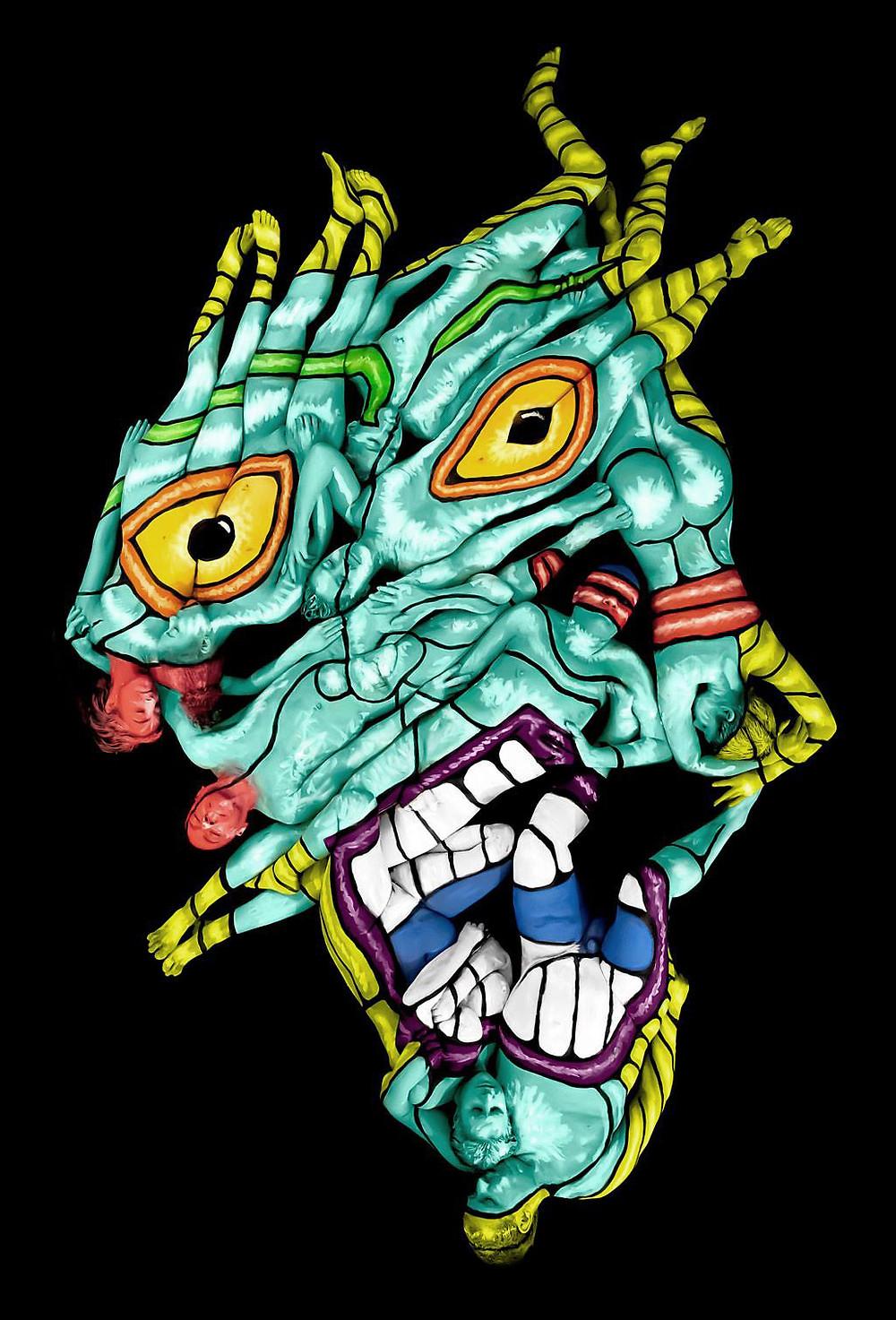 "American artist Andy Golub's artwork ""michael"""