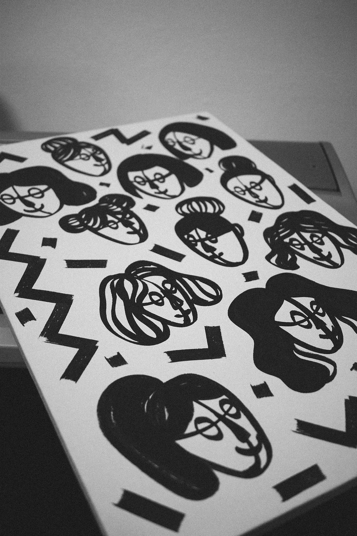 Sofia Bernal's black and white illustration
