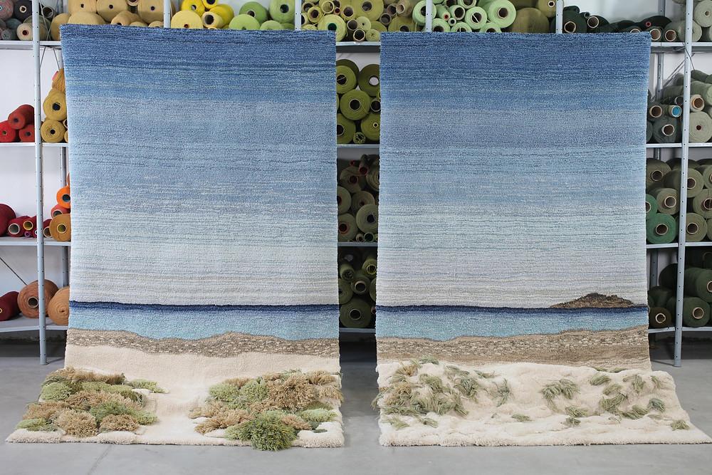 Artist Alexandra Kehayoglou's rug of a sea landscape