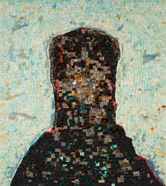 Black artist Jack Whitten's painting of a black monolith