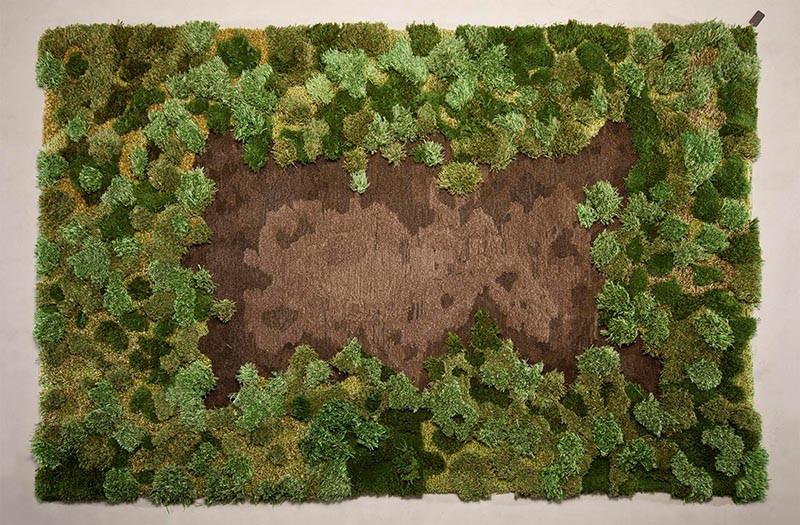 Artist Alexandra Kehayoglou's rug of a forest