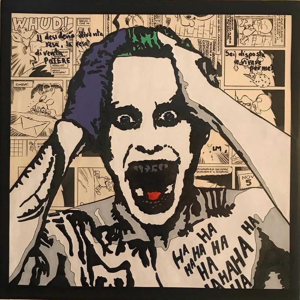 Luca Marchini's finished artwork of Jared Leto's Joker