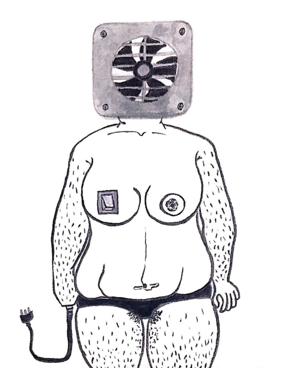 fashion designer and artist Pratiksha Tandon's artwork of a machine woman