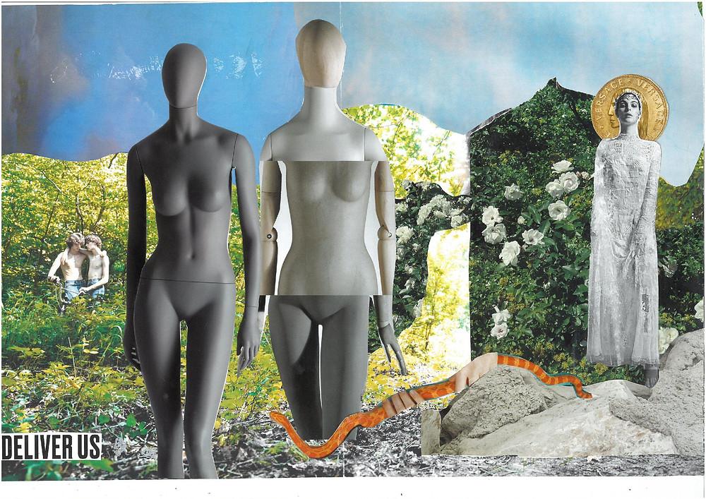 """Artist Carla Gina Rubeo's collage artwork """"cyborgs"""""""
