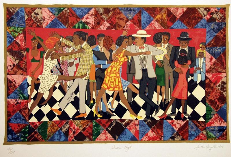 Black artist Faith Ringgold's painting