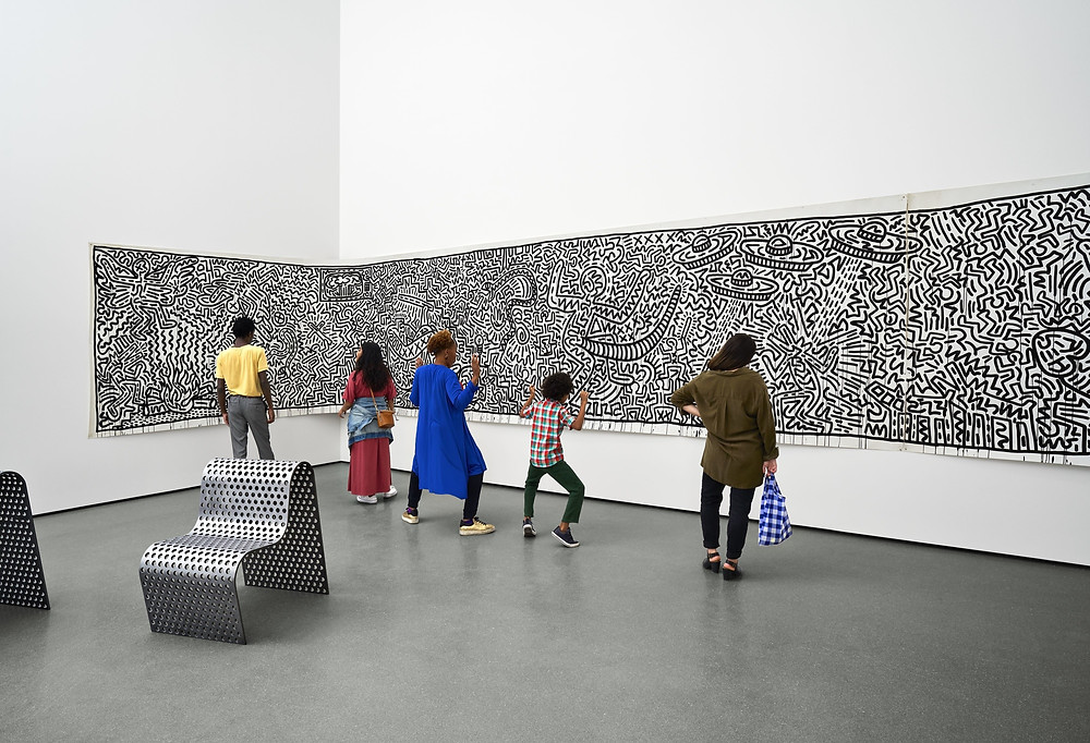 Some visitors at Museum of modern art in new york