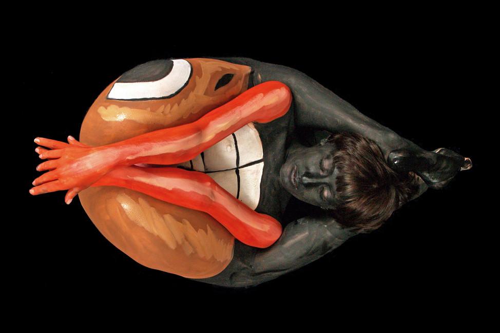 "American artist Andy Golub's artwork ""pretzel"""