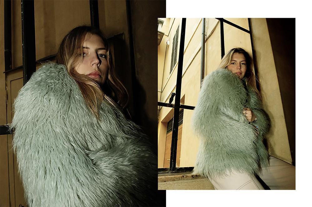 Photographer Laura Munari's shoot of a girl in a fur coat
