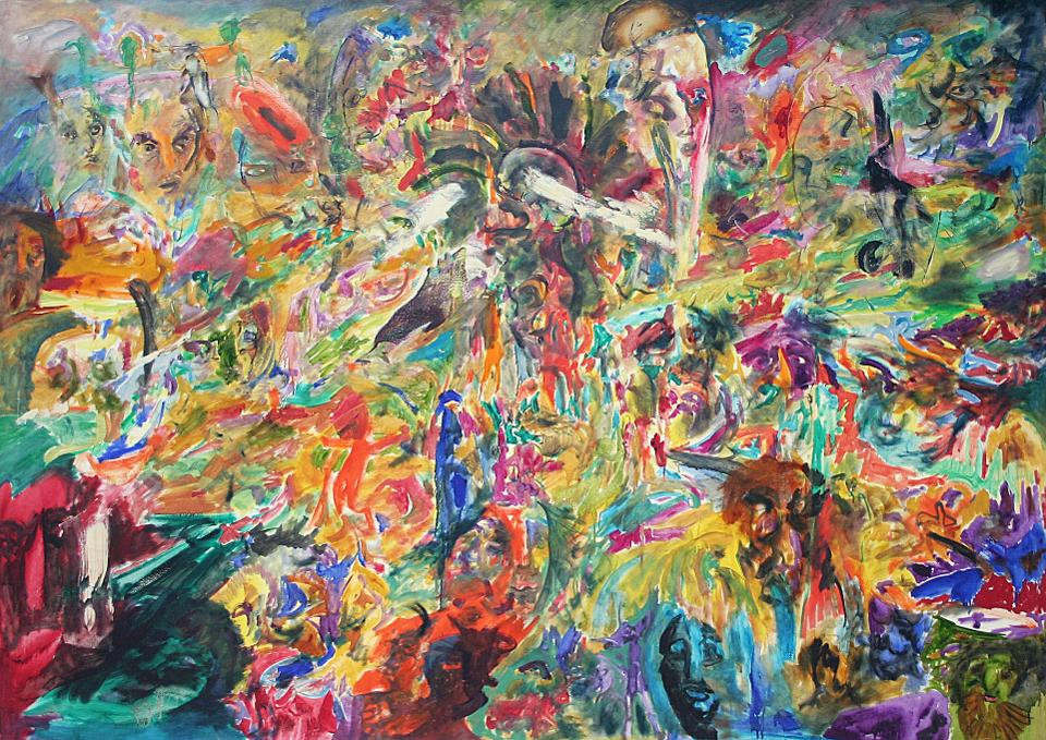 Black artist Jack Whitten's abstract painting