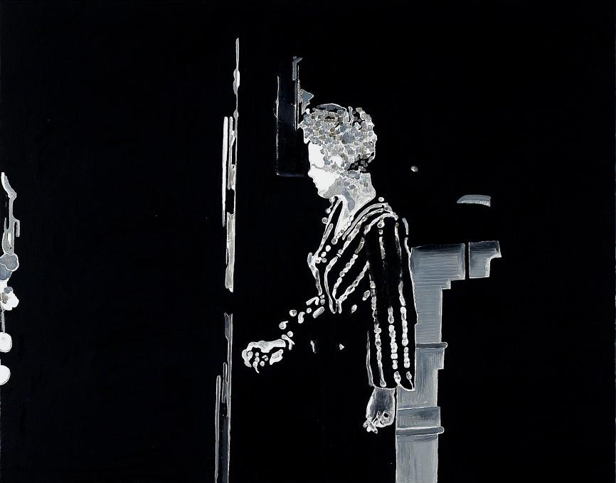 Artist Pietro finelli's artwork on a movie still