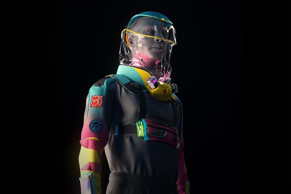 Concept art for micrashell anti virus suit