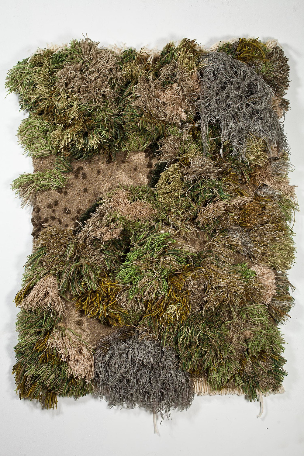 Artist Alexandra Kehayoglou's rug in the form of grass