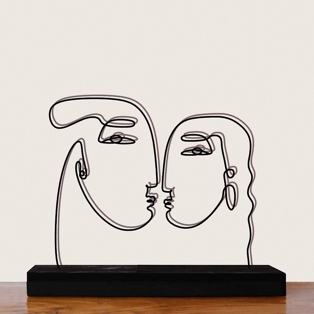 Interior designer Lourdy Ghorayeb 's stylized artwork