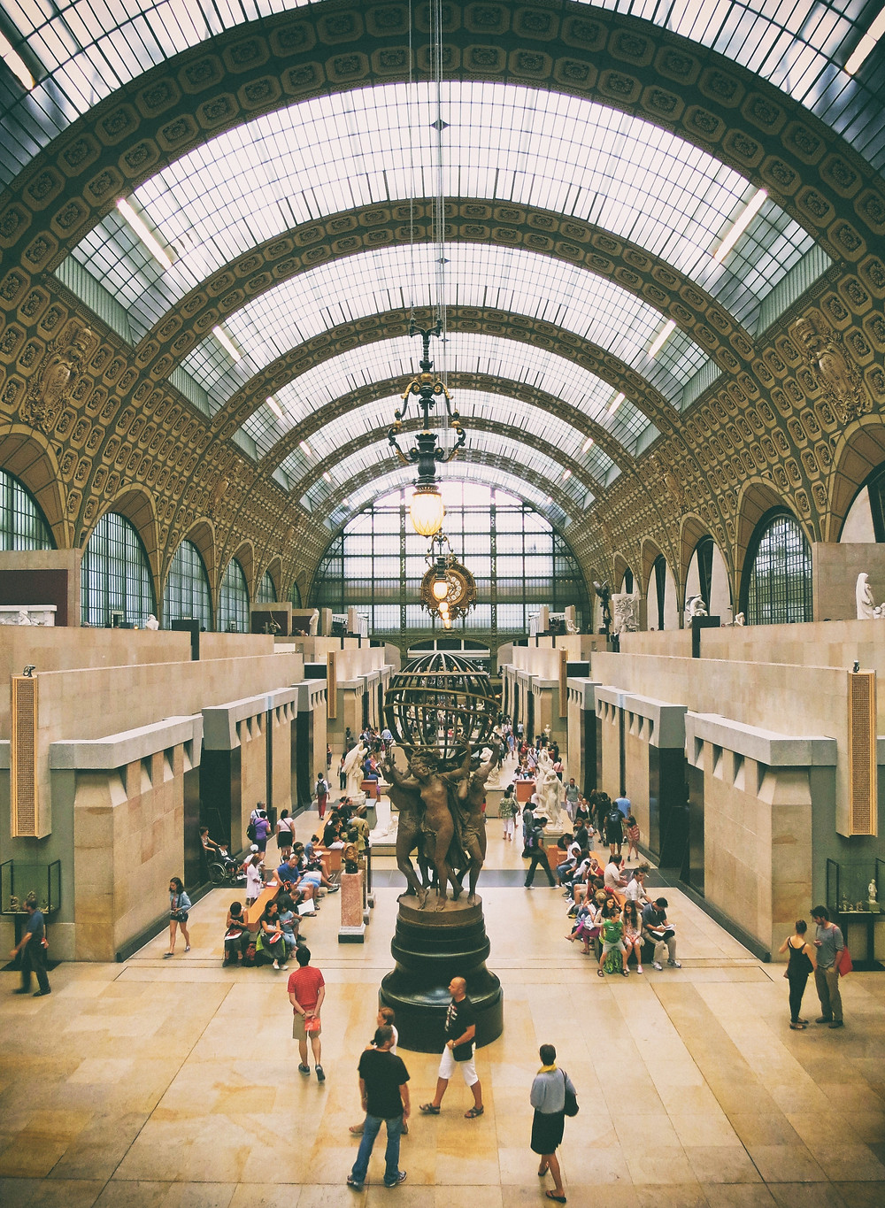 The crowded hall of Musée d'Orsay, Paris