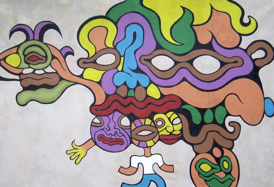 """American artist Andy Golub's painting """"Breaking away"""""""""""