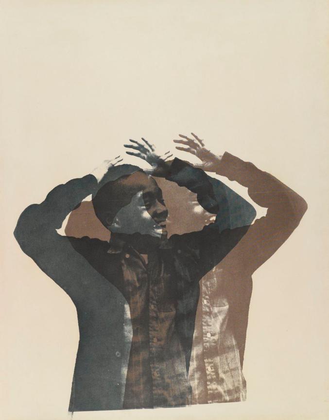 Balck artist Cleveland Bellow's work of a young black boy