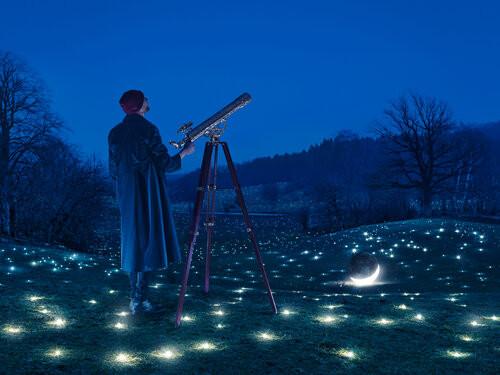 "Surrealistic digital artwork ""Looking for Stars"""
