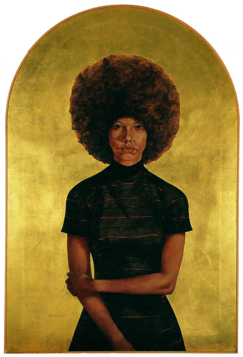Black artist Barkey L. Hendricks' painting of a black woman