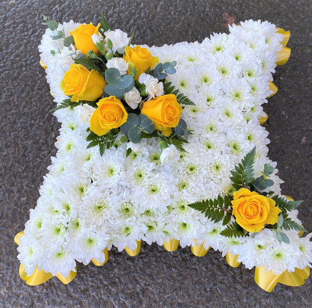 Classice yellow cushion tribute by Taylor designs