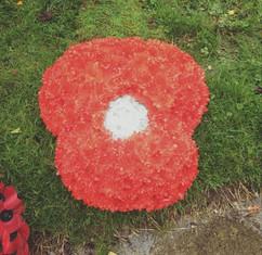 poppy funeral tribute. chobham florist w