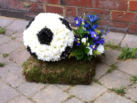football funeral flowers tribute. chobha