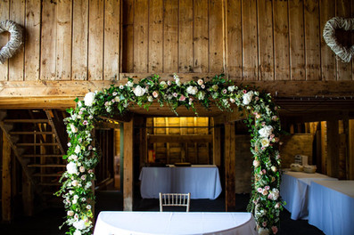 rustic chic arch