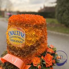 ovaltine bespoke funeral tribute.JPG
