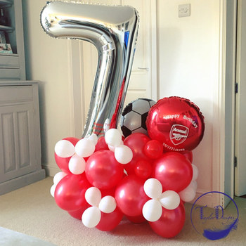 Football number cluster balloons