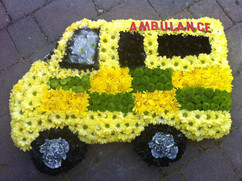 funeral flowers tribute ambulance nhs fl
