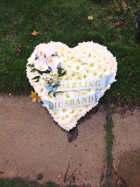 based orchid heart tribute flowers chobham, surrey