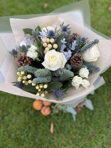 Snow White bouquet.  Available in our bo