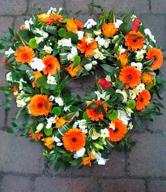 orange and white open heart