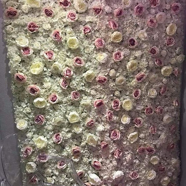 pink and white rose flower wall design