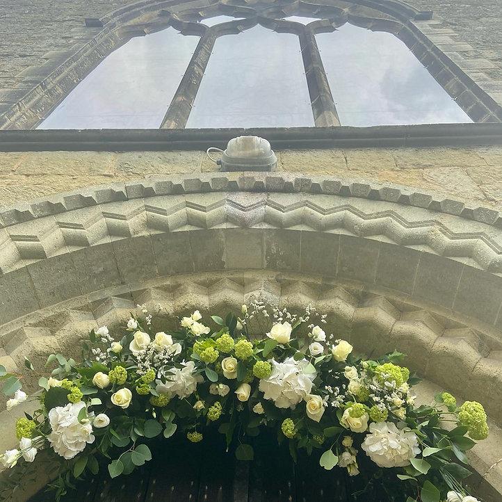 churchwedding arch, Taylor designs, surr