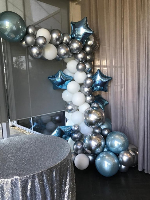 Silver, White and blue theme