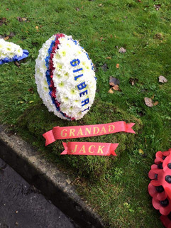 funeral rugby tribute. chobham surrey wo