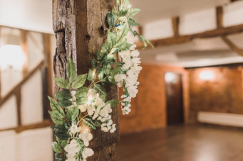 wysteria garland at cantley barn
