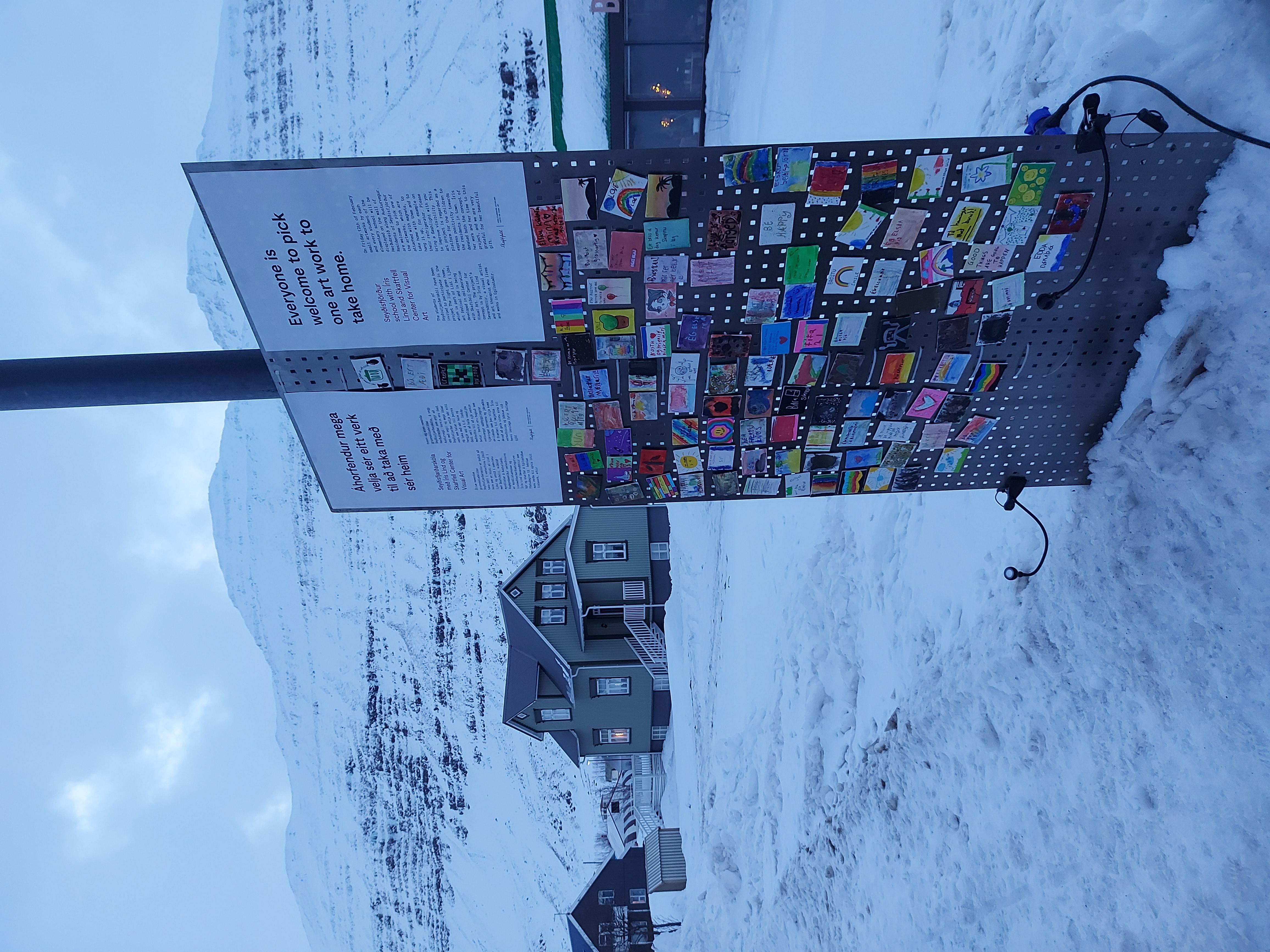 Seyðisfjarðarskóli ásamt Írisi Lind og Skaftfell