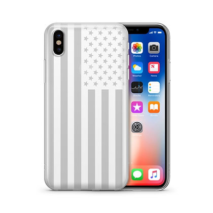 USA Flag - Clear TPU Case Cover